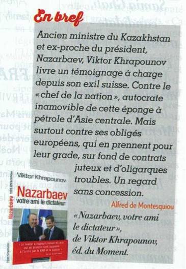 Рецензия Paris Match на книгу В. Храпунова