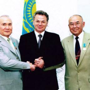 А. Кулибаев, В. Храпунов, М. Алиев 2003 г.