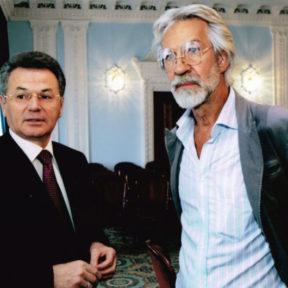Алматинский кинофестиваль с Борисом Хмельницким в городе Алматы 2004 год