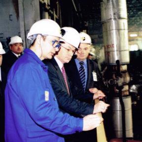 L'énergie est l'épine dorsale de tout succès. V. Khrapunov dans la salle des turbines du CHPP d'Oust- Kamenogorsk