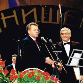 На юбилейном концерте А. Днишева, народного артиста СССР
