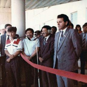 Открытие 1000 коечной больницы в мкр Калкаман 1991 год