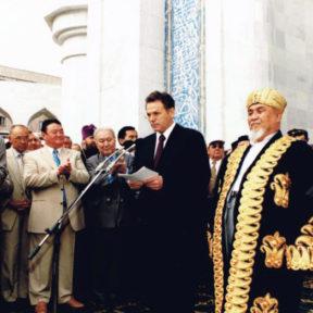 Открытие мечети в городе Алматы 1999 год