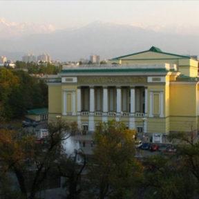 Открытие оперного театра после реконструкции Театра Оперы и балета имени Абая 2000 год