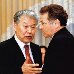 С К. Аухадиевым – бывший первый секретарь Горкома партии г. Алма-Аты