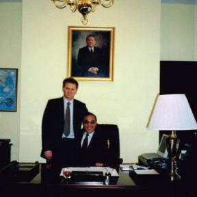 С Канатом Саудабаевым, Посол РК в США