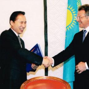 Встреча господином Ли Мён Бак, мэром города Сеул Южная Корея