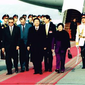Встреча Премьера Госсовета КНР Чжу Чжунцзы с супругой