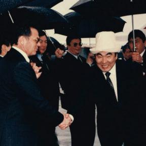 Встреча Президента Кыргызстана А. Акаева