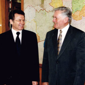 Встреча Президента Литвы А Адамкус