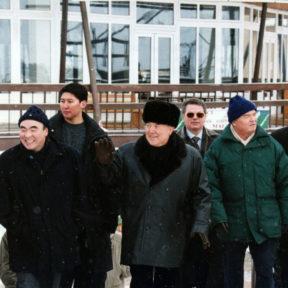 А. Акаев, Н. Назарбаев, В. Храпунов, И. Каримов 2001