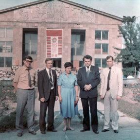 Н. Турышев, А. Судьин, Б. Еркожанова, В. Храпунов, Н. Дейхин, Алма-Ата 1987