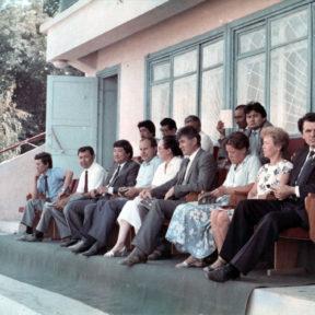 С Российской делегацией . Алматинский ипподром 1989