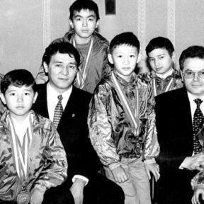 Чемпионы мира, воспитанники Академии боевых искусств. Президент Ж. Санауов - президент АБИ