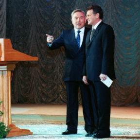 Н. Назарбаев, В. Храпунов 2000