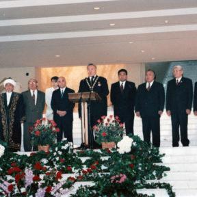 Алматы утрачивает статус столицы Казахстана. Проводы символов государства Ноябрь 1997