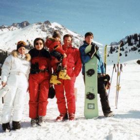 С семьей. Алматы Чимбулак 1999
