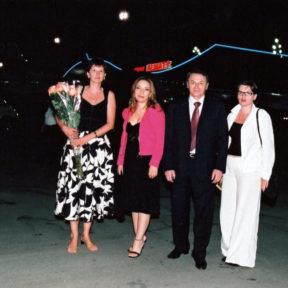 С супругой и дочерьми Галиной, Еленой Алматы 2004