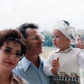 С супругой, сыном Алматы 2000
