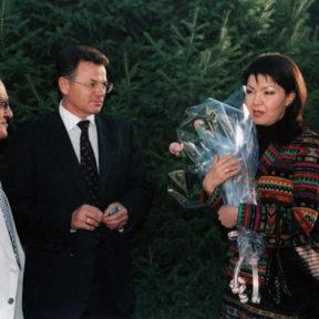 В. Храпунов, Д. Назарбаева