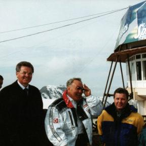 В. Храпунов, Н. Назарбаев, Л. Лещенко, В. Винокур 2003