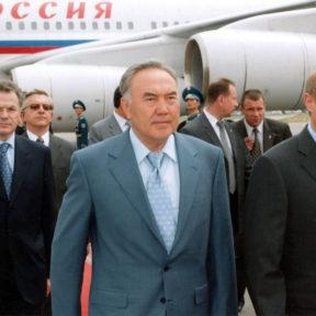 В. Храпунов, Н. Назарбаев, В. Путин Июнь 2004