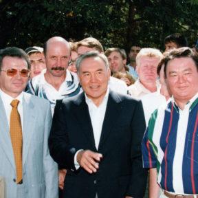 В. Храпунов, Н. Назарбаев, З. Нуркадилов