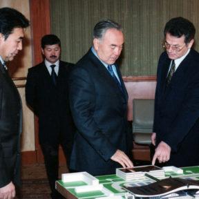 Впервые представлен макет будущего терминала аэропорта г. Алматы 1999