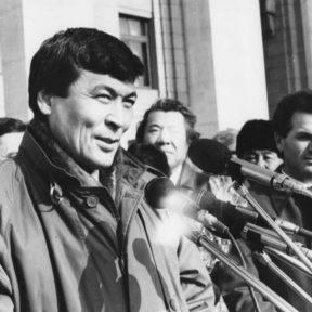 Встреча с первым космонавтом Казахстана Т. Аубакировым октябрь 1991